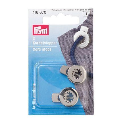 Arrêts cordons avec 1 trou en métal Prym Noir