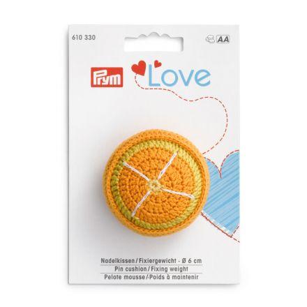 Poids à maintenir Prym Love avec pelote mousse - Orange