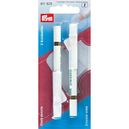 Crayons craie avec brosse à effacer 11 cm Prym Blanc