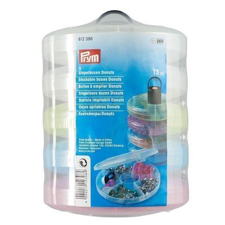 Ensemble de boites en plastique compartimentées à empiler transparantes Prym