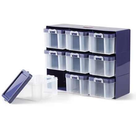Casier de rangement avec 9 boîtes