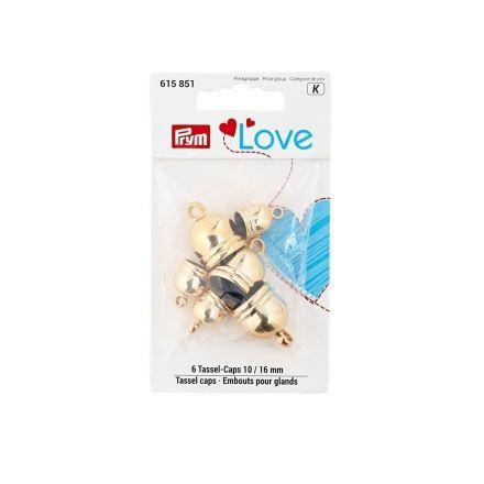 Embouts pour glands 10 + 16 mm Prym Love Argent
