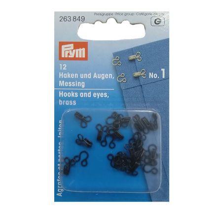 Agraphes et portes en laiton Prym Noir- 3 tailles