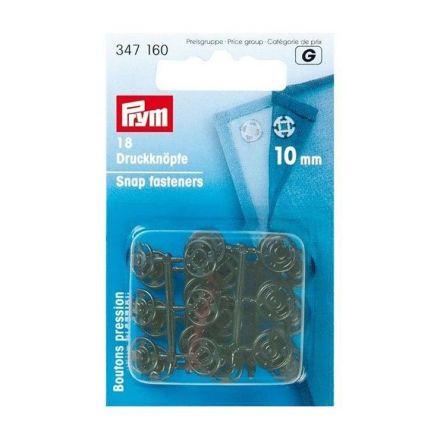 Boutons pression à coudre en plastique Prym Noir  - 4 tailles