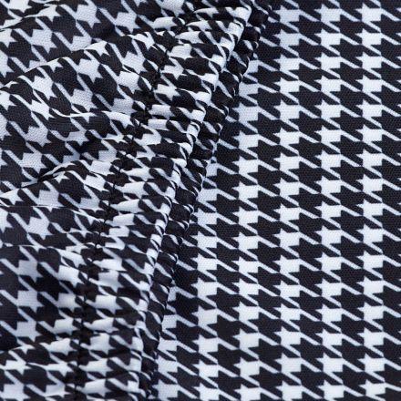 Tissu Fantaisie blanc et noir pour Mannequin de couture - 3 Tailles