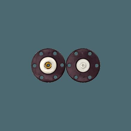 Bouton Pression polyester/métal Noir- 2 Tailles