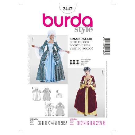 Patron Burda 2447 Robe rococo