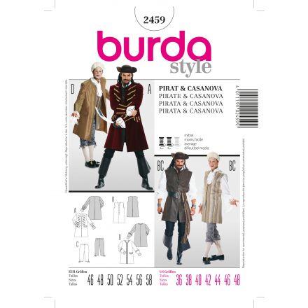 Patron Burda 2459 Pirate et Casanova