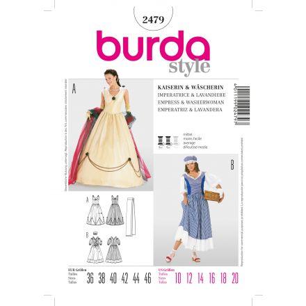 Patron Burda 2479 Impératrice et Lavandière