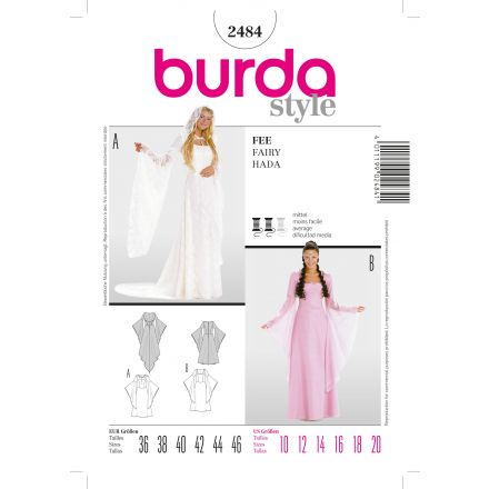 Patron Burda 2484 Fée