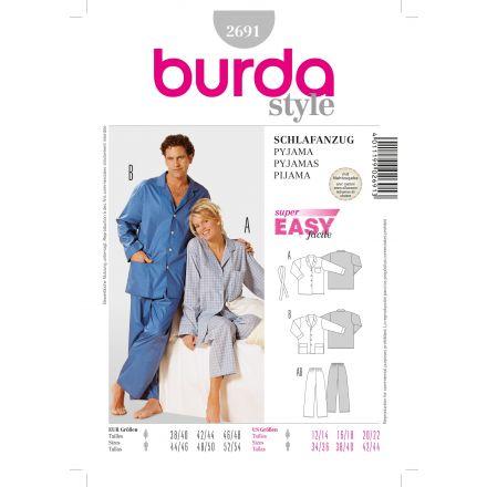 Patron Burda 2691 Pyjama