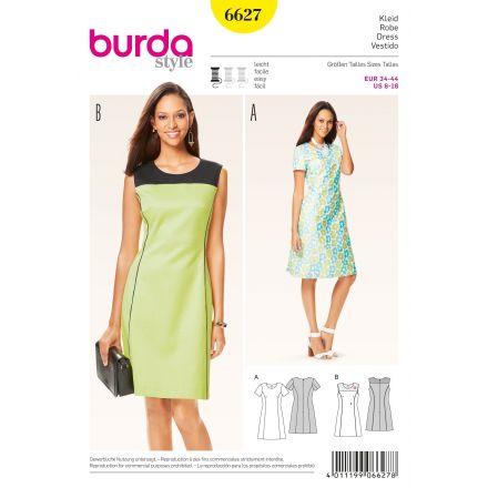 Patron Burda 6627 Robe