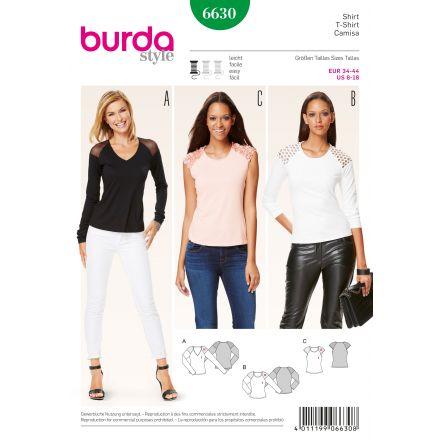 Patron Burda 6630 T-shirt
