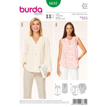 Patron Burda 6632 Tunique