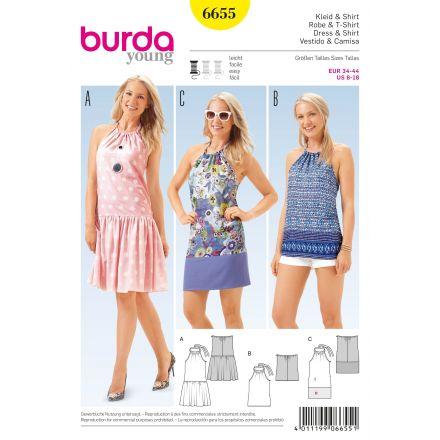 Patron Burda 6655 Robe et t-shirt
