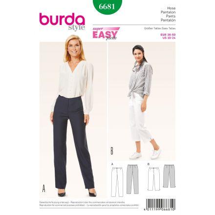 Patron Burda 6681 Pantalon