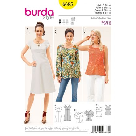Patron Burda 6685 Robe et Blouse