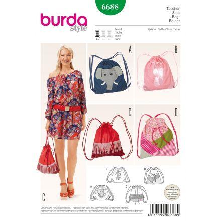 Patron Burda 6688 Sacs