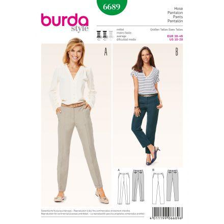 Patron Burda 6689 Pantalon