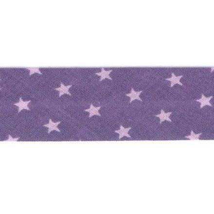 Biais étoiles Frou-Frou Violet