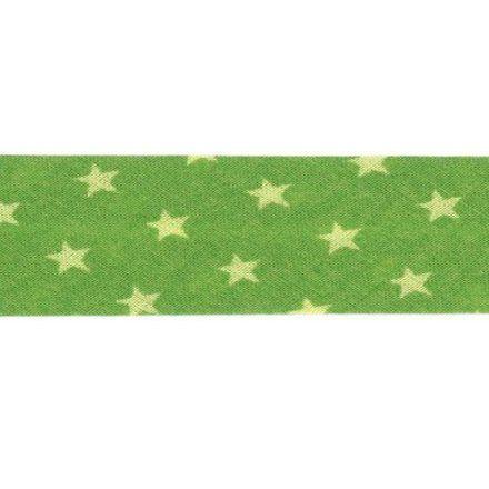 Biais étoiles Frou-Frou Vert pomme