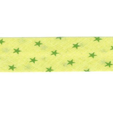Biais étoiles Frou-Frou Vert pistache