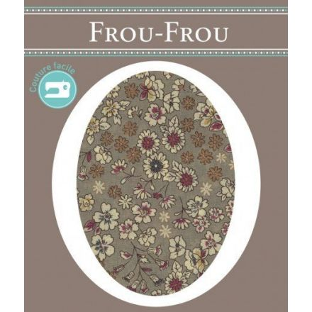 Genouillères-coudières thermocollantes Fleuri Frou-Frou Beige sable et ecru