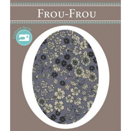 Genouillères-coudières thermocollantes Fleuri Frou-Frou Violet lavande et ecru