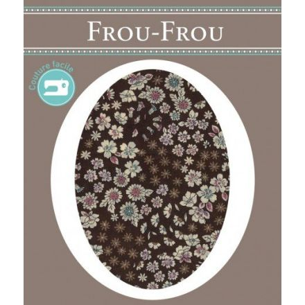 Genouillères-coudières thermocollantes Fleuri Frou-Frou Marron et ecru