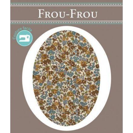 Genouillères-coudières thermocollantes Fleuri Frou-Frou Ecru et marron