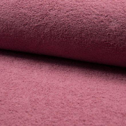 Tissu Eponge légère 320 g/m² Vieux rose - Par 10 cm