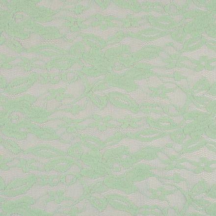 Tissu Dentelle extensible Vert menthe - Par 10 cm
