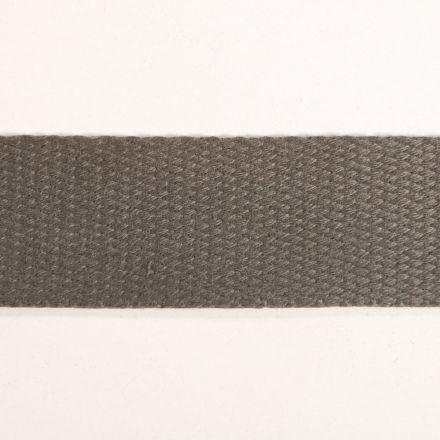 Sangle Coton 30 mm Gris x1m