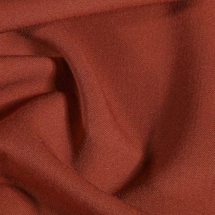 Tissu Gabardine de viscose Terracotta - Par 10 cm