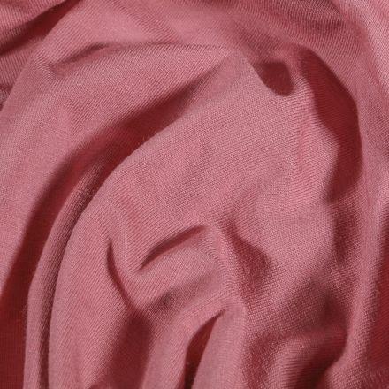 Tissu Jersey Viscose uni Rose - Par 10 cm