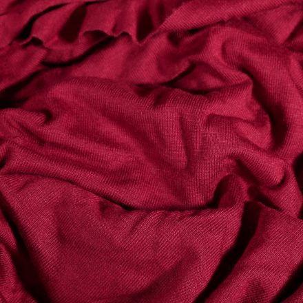 Tissu Jersey Viscose uni Rose fuchsia - Par 10 cm