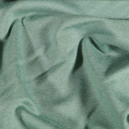 Tissu Jersey Viscose uni Vert d'eau - Par 10 cm