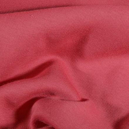 Tissu Molleton Sweat uni Vieux rose - Par 10 cm