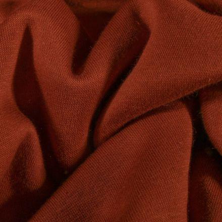 Tissu Molleton Sweat uni Brique - Par 10 cm