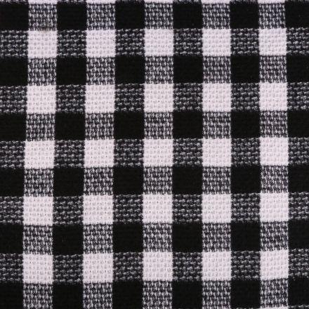 Tissu Lainage  Carreaux Blancs et noirs - Par 10 cm