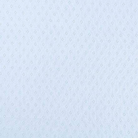 Tissu Jersey Coton ajouré Losanges Bleu ciel - Par 10 cm