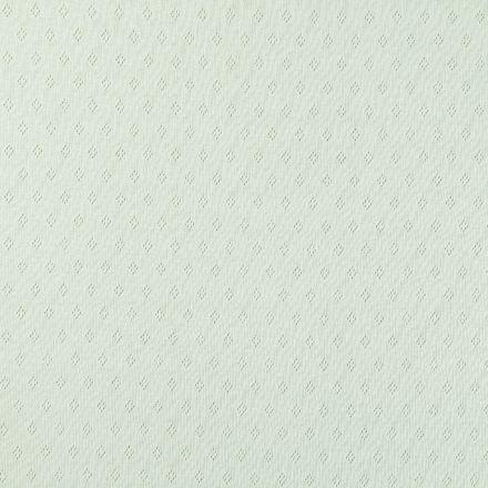 Tissu Jersey Coton ajouré Losanges Vert lichen - Par 10 cm