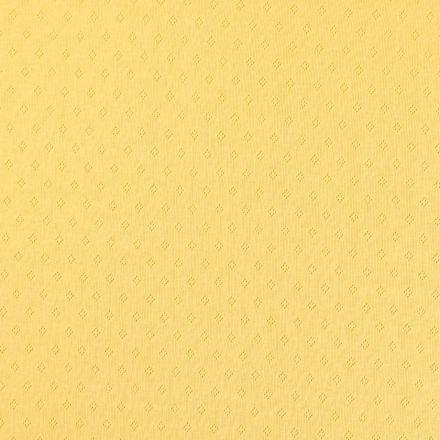 Tissu Jersey Coton ajouré Losanges Jaune - Par 10 cm