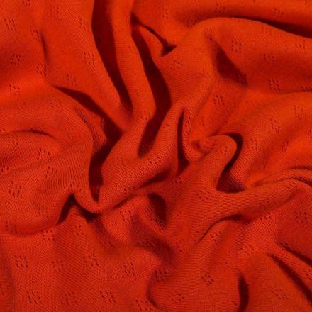 Tissu Jersey Coton ajouré Losanges Rouille - Par 10 cm