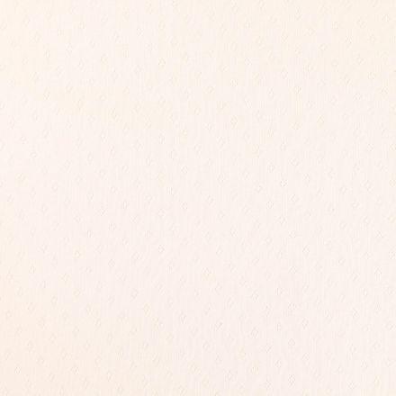 Tissu Jersey Coton ajouré Losanges Ecru - Par 10 cm