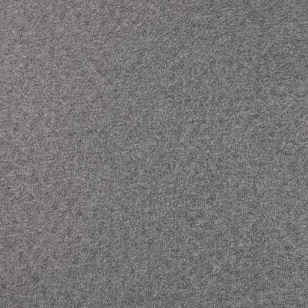 Tissu Jersey Coton ajouré Losanges Gris foncé chiné - Par 10 cm