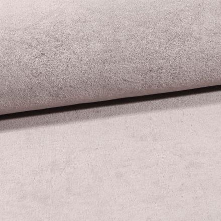 Tissu Jersey Velours Eponge Gris souris - Par 10 cm