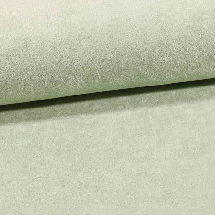 Tissu Jersey Velours Eponge Vert clair - Par 10 cm