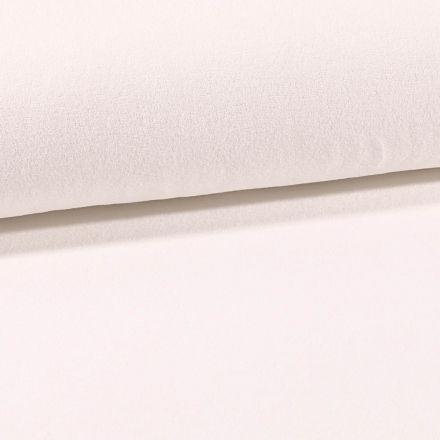 Tissu Jersey Velours Eponge Ecru - Par 10 cm