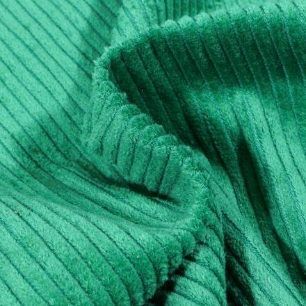 Tissu Velours Grosses côtes Vert émeraude